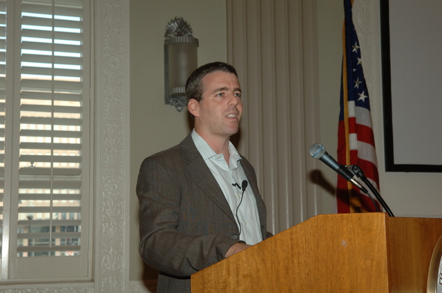 [Assignment: 48-DPA-09-20-07_K_DOI-U_Exec_Swamp] Department of the Interior University Executive Forum, featuring [lecture by Michael Grunwald, Washington Post reporter and author of the Everglades history,] The Swamp [48-DPA-09-20-07_K_DOI-U_Exec_Swamp_IOD_3401.JPG]