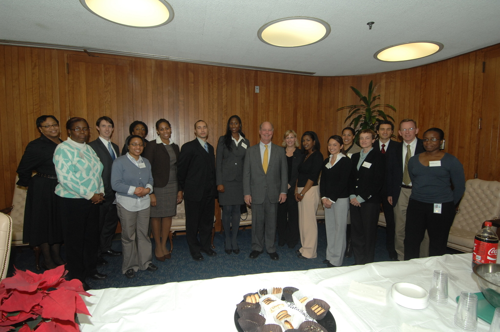 Office of General Counsel New Hires - Reception for Office of General Counsel new hires at HUD Headquarters, [with Deputy Secretary Roy Bernardi and General Counsel Robert Couch among officials on hand]