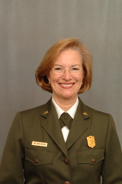 [Assignment: 48-DPA-12-12-07_K_NPS_Matthews] Portrait of Janet Matthews, [Associate Director for Cultural Resources,] National Park Service [48-DPA-12-12-07_K_NPS_Matthews_DOI_7868.JPG]