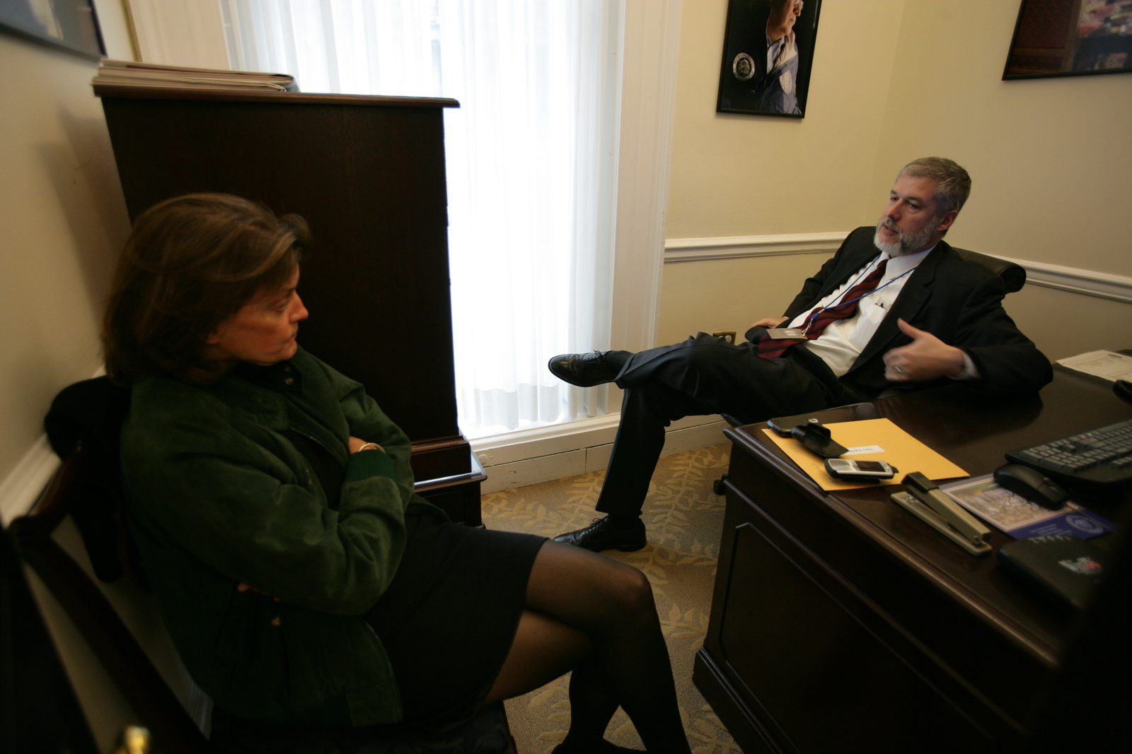 David Addington with Claire O'Donnell
