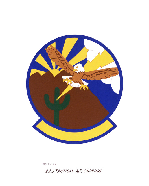 Approved insignia for: 22nd Tactical Air Support Training Squadron OFFICIAL U.S. AIR FORCE PHOTO (RELEASED)