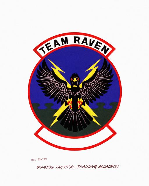 Approved insignia for: 4445th Tactical Training Squadron OFFICIAL U.S. AIR FORCE PHOTO (RELEASED)