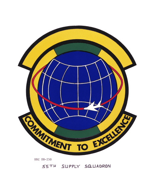 Approved insignia for: 55th Supply Squadron OFFICIAL U.S. AIR FORCE PHOTO (RELEASED)