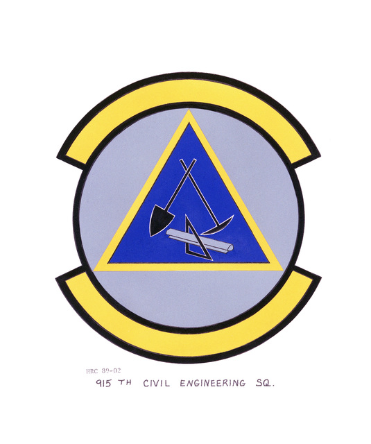 Approved insignia for: 915th Civil Engineering Squadron OFFICIAL U.S. AIR FORCE PHOTO (RELEASED)