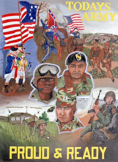 "Artwork: ""Today's Army - Proud and Ready"" 1985. Artist: Michael A. Goethals. Catalog Number: 1.9.86"