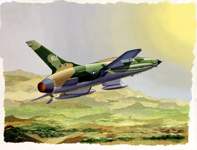 F-105 Artist: Charles P. Shealy. Exact date shot unknown
