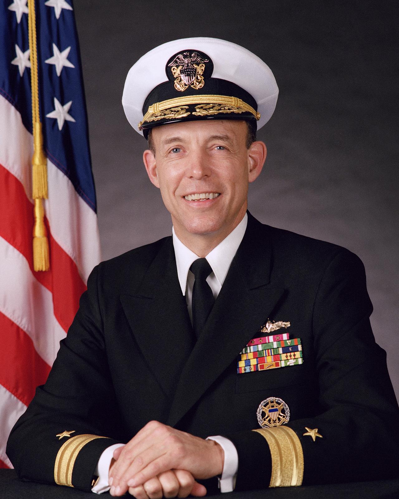 Robert Lucier Rear Adm. (lower half) Stephen S. Clarey, USN (covered) OFFICIAL U.S. NAVY PHOTO (RELEASED)