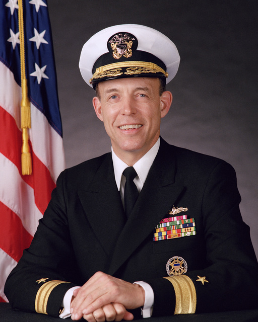 Robert Lucier Rear Adm. (lower half) Stephen S. Clarey, USN (covered) OFFICIAL U.S. NAVY PHOTO (RELEASED)