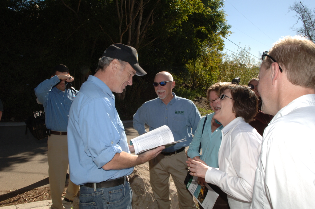 [Assignment: 48-DPA-1-14-08_SOI_K_CA_USGS] Visit of Secretary Dirk Kempthorne to the Malibu area of southern California [for tours, meetings focusing on landslide research, field instruments, webcams, and other tools being used by the] U.S. Geological Survey (USGS) [to predict dangerous mudslides.] [48-DPA-1-14-08_SOI_K_CA_USGS_IOD_9600.JPG]