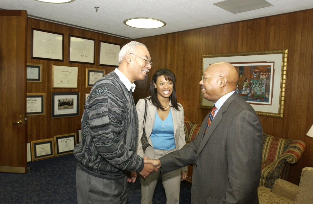 Visit of General Victor Langford III and Tanya Cunningham to HUD - Visit of [retired Brigadier General Victor Langford III, former Assistant Chief of Chaplains in the Army National Guard], and Tanya Cunningham to HUD Headquarters for meeting with Secretary Alphonso Jackson, staff