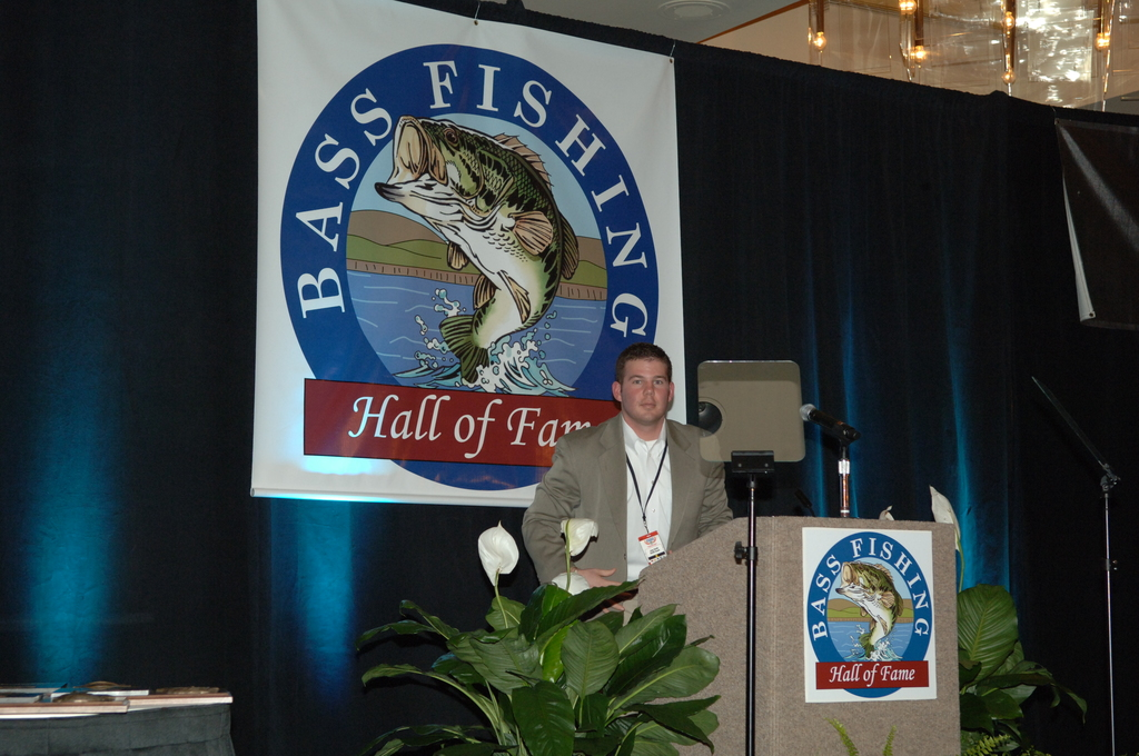 [Assignment: 48-DPA-02_21_08_SIO_K_SC_Bass_Din] Bassmasters Classic professional fishing tournament dinner, [sponsored by the Bass Fishing Hall of Fame,] in Greenville, South Carolina, with speakers including Secretary Dirk Kempthorne, [who announced the distribution of more than $700 million to 56 state and territorial wildlife agencies to fund fish and wildlife conservation efforts, boat access, shooting ranges, and hunter education] [48-DPA-02_21_08_SIO_K_SC_Bass_Din_IOD_0886.JPG]