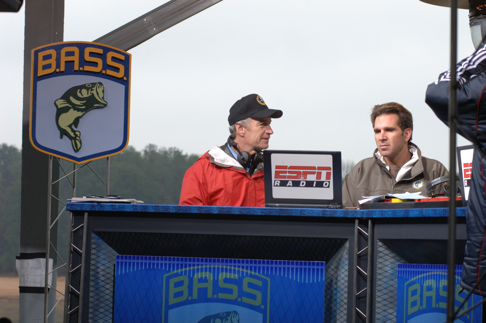 [Assignment: 48-DPA-02_21_08_SIO_K_SC_Bass_Mike] Segment of ESPN Radio's Mike and Mike Show, [co-hosted by Mike Greenberg and Mike Golic,] at the Bassmasters Classic professional fishing tournament, Greenville, South Carolina, [with guest appearance by] Secretary Dirk Kempthorne [48-DPA-02_21_08_SIO_K_SC_Bass_Mike_DOI_0360.JPG]