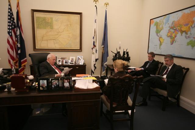 Vice President Cheney Meets with David Addington, Elizabeth Kleppe, and John Hannah