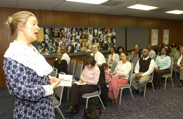 """National Women's History Month Program - National Women's History Month Program at HUD Headquarters: """"Women's Art: Women's Vision"""" theme, [with performance by Kate Campbell Stevenson of """"Women: Back to the Future""""]"""