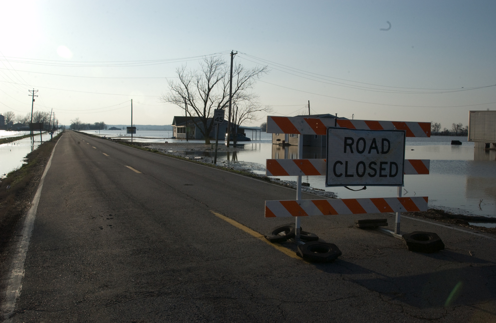 [Severe Storms and Flooding] Chaffee, MO, March 20, 2008 --  Heavy rains inundated diversion canals and topped levees in this rural community, causing widespread flooding and road closures.  FEMA/John Shea