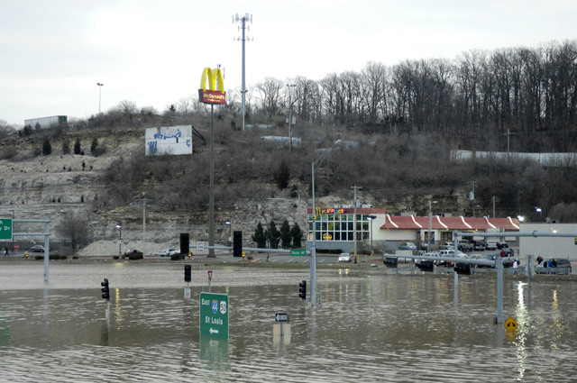 [Severe Storms and Flooding] Eureka, MO, March 22, 2008 - - Water remains on streets in neighborhoods near the Meramec River.  Jocelyn Augustino/FEMA