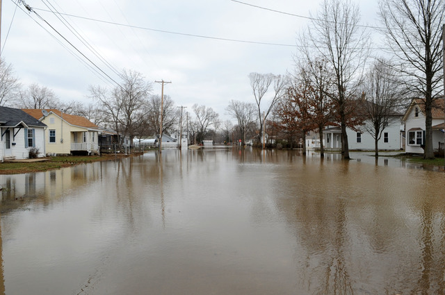 [Severe Storms and Flooding] Pacific, MO, March 22, 2008 -- Water remains on streets in neighborhoods near the Meramec River.  Jocelyn Augustino/FEMA