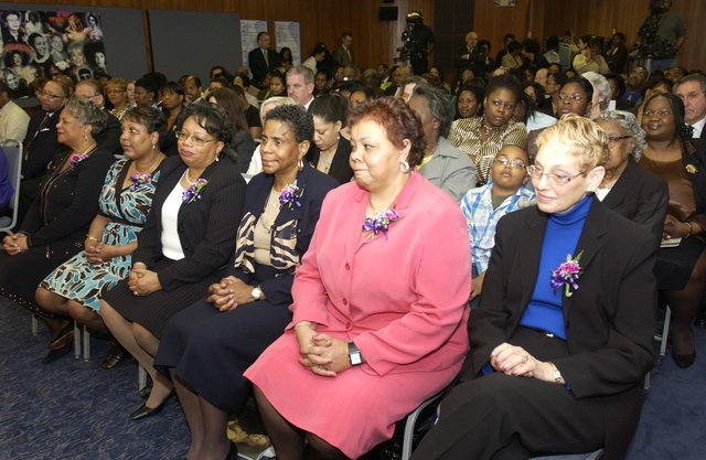 National Women's History Month Closing Program - National Womens History Month Closing Program at HUD Headquarters: Honoree Ceremony, [featuring Secretary Alphonso Jackson, HUD staff honorees, and outside honorees including Andrea Roane of Washington, D.C.'s WUSA-TV News and gospel singer B.J. Douglass]