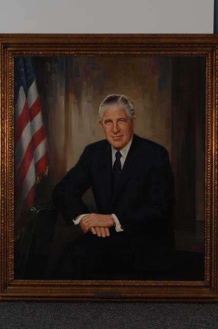 Former Secretary George Romney, Painted Portrait - Official painted portrait of former Secretary George Romney