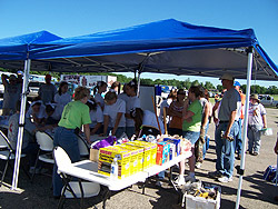 Tornado - Chapman, Kan. , June 13, 2008 -- Reno County CERT members working to help tornado survivors at a pavilion.