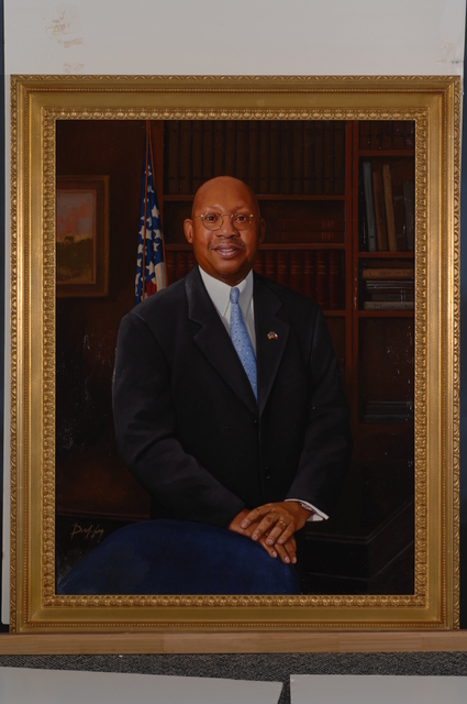 Former Secretary Alphonso Jackson, Painted Portrait - Official painted portrait of former Secretary Alphonso Jackson