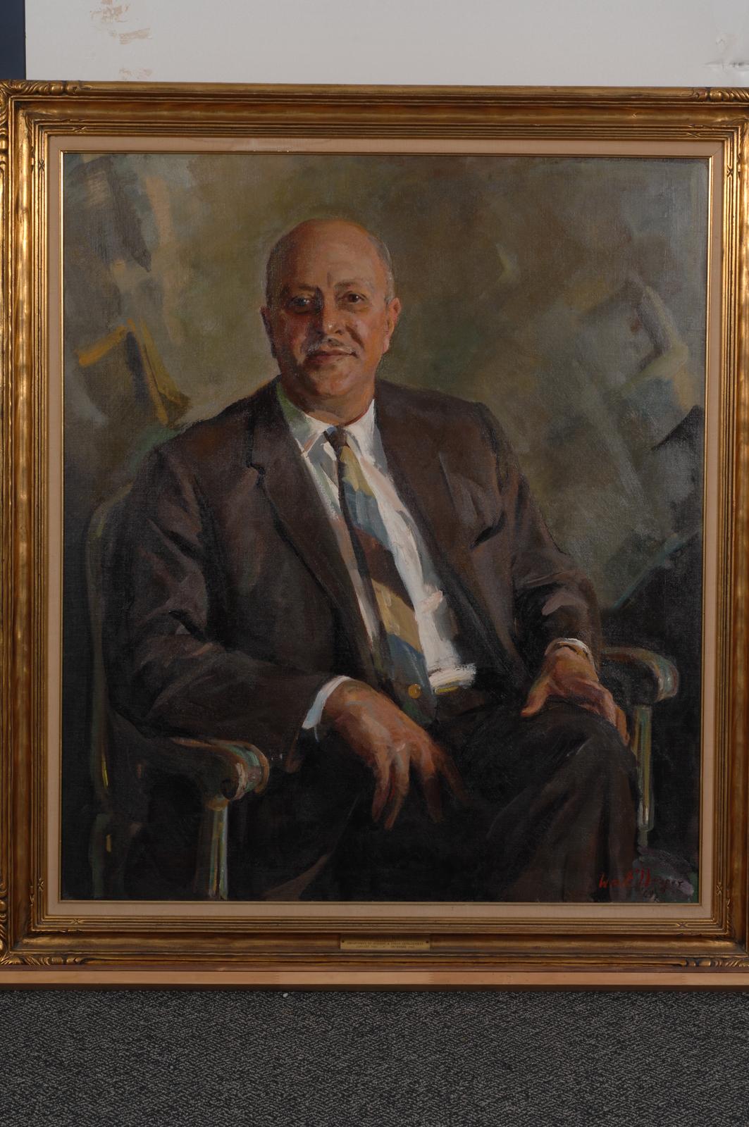 Former Secretary Robert Weaver, Painted Portrait - Official painted portrait of former Secretary Robert Weaver