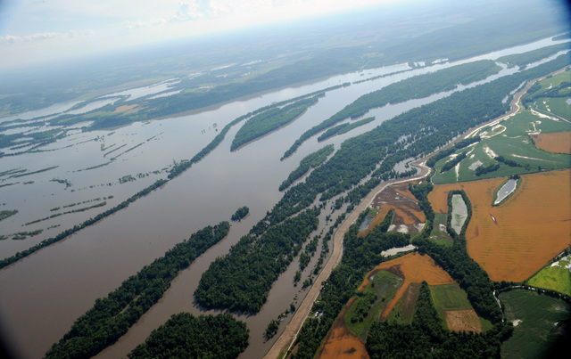 Louisianna, MO, June 20, 2008 -- Towns along the Mississippi River are impacted by flood waters.  Jocelyn Augustino