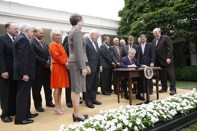 President George W. Bush Signs the Foreign Intelligence Surveillance Act (FISA) Amendments Act of 2008