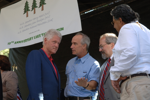 [Assignment: 48-DPA-08-17-08_SOI_K_Lake_T_Event] Lake Tahoe Restoration Summit, at Nevada's [Sand Harbor State Park,  where] Interior Secretary Dirk Kempthorne [joined former President Bill Clinton, Nevada Senators Harry Reid and John Ensign, Nevada Governor Jim Gibbons, California Senator Dianne Feinstein, California Lieutenant Governor John Garamendi, Agriculture Under Secretary for Natural Resources and Environment Mark Rey, and other federal, state, local, tribal leaders for the environmental discussion] [48-DPA-08-17-08_SOI_K_Lake_T_Event_IOD_1959.JPG]