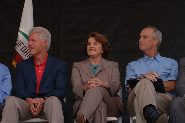 [Assignment: 48-DPA-08-17-08_SOI_K_Lake_T_Event] Lake Tahoe Restoration Summit, at Nevada's [Sand Harbor State Park,  where] Interior Secretary Dirk Kempthorne [joined former President Bill Clinton, Nevada Senators Harry Reid and John Ensign, Nevada Governor Jim Gibbons, California Senator Dianne Feinstein, California Lieutenant Governor John Garamendi, Agriculture Under Secretary for Natural Resources and Environment Mark Rey, and other federal, state, local, tribal leaders for the environmental discussion] [48-DPA-08-17-08_SOI_K_Lake_T_Event_DOI_1071.JPG]