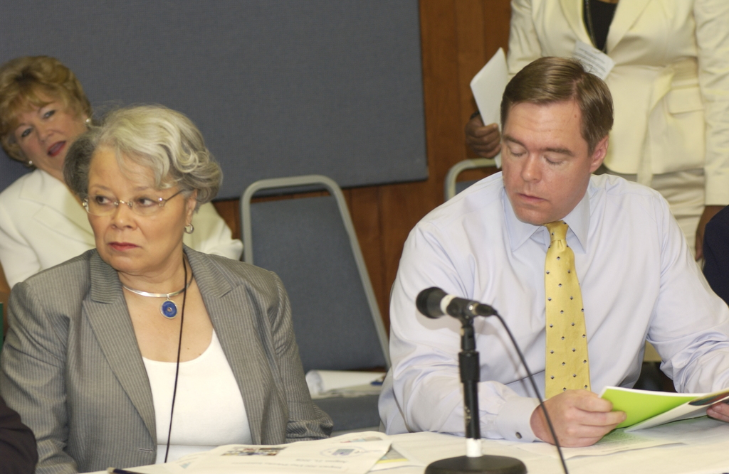 """Round Table on """"Impact 200"""" - [HUD senior officials participating in] Round Table discussion concerning """"Impact 200: HUD--200 Days and Beyond of Progress,"""" at HUD Headquarters"""