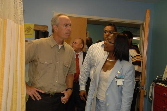 [Assignment: 48-DPA-08-21-08_SOI_K_Croix] Visit of Secretary Dirk Kempthorne [and aides] to St. Croix,  U.S. Virgin Islands, [for touring of the Estate Grange Alexander Hamilton Boyhood Home, the Juan F. Luis Hospital, and other natural and developed sites, as well as discussions with National Park Service personnel and Virgin Islands officials [48-DPA-08-21-08_SOI_K_Croix_DOI_7504.JPG]