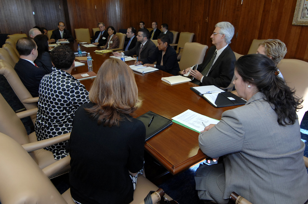 Visit of U.S. Treasurer Anna Cabral to HUD for Housing Discussions - Treasurer of the U.S., Anna Cabral, visiting HUD Headquarters for housing discussions with Secretary Steve Preston, staff
