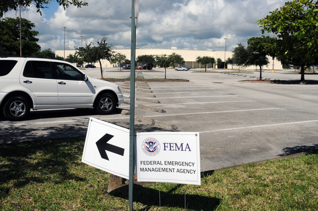 [Tropical Storm Fay] Ft. Pierce, FL, September 17, 2008 -- At the St. Lucie FEMA/State Disaster Recovery Center(DRC) signs are placed to direct potential Tropical Storm Fay affected applicants where to find the Center. The DRC has federal, state, local, and volunteer disaster services under one roof.  George Armstrong/FEMA