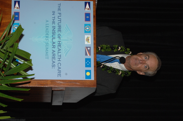 """[Assignment: 48-DPA-09-29-08_SOI_K_Isl_Conf_AM] Insular Areas Health Summit [(""""The Future of Health Care in the Insular Areas: A Leaders Summit"""") at the Marriott Hotel in] Honolulu, Hawaii, where Interior Secretary Dirk Kempthorne [joined senior federal health officials and leaders of the U.S. territories and freely associated states to discuss strategies and initiatives for advancing health care in those communinties [48-DPA-09-29-08_SOI_K_Isl_Conf_AM_IOD_4728.JPG]"""