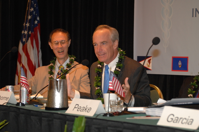 """[Assignment: 48-DPA-09-29-08_SOI_K_Isl_Conf_AM] Insular Areas Health Summit [(""""The Future of Health Care in the Insular Areas: A Leaders Summit"""") at the Marriott Hotel in] Honolulu, Hawaii, where Interior Secretary Dirk Kempthorne [joined senior federal health officials and leaders of the U.S. territories and freely associated states to discuss strategies and initiatives for advancing health care in those communinties [48-DPA-09-29-08_SOI_K_Isl_Conf_AM_DOI_0532.JPG]"""