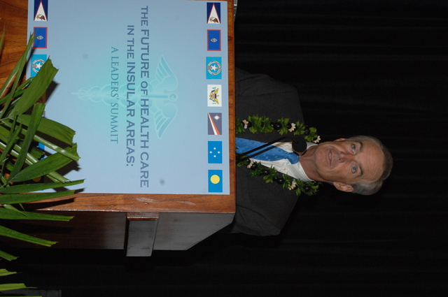 """[Assignment: 48-DPA-09-29-08_SOI_K_Isl_Conf_AM] Insular Areas Health Summit [(""""The Future of Health Care in the Insular Areas: A Leaders Summit"""") at the Marriott Hotel in] Honolulu, Hawaii, where Interior Secretary Dirk Kempthorne [joined senior federal health officials and leaders of the U.S. territories and freely associated states to discuss strategies and initiatives for advancing health care in those communinties [48-DPA-09-29-08_SOI_K_Isl_Conf_AM_IOD_4729.JPG]"""