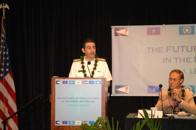 """[Assignment: 48-DPA-09-29-08_SOI_K_Isl_Conf_AM] Insular Areas Health Summit [(""""The Future of Health Care in the Insular Areas: A Leaders Summit"""") at the Marriott Hotel in] Honolulu, Hawaii, where Interior Secretary Dirk Kempthorne [joined senior federal health officials and leaders of the U.S. territories and freely associated states to discuss strategies and initiatives for advancing health care in those communinties [48-DPA-09-29-08_SOI_K_Isl_Conf_AM_DOI_0491.JPG]"""