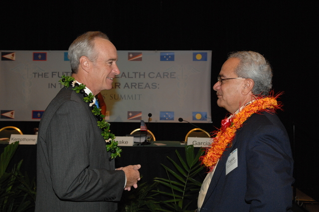 """[Assignment: 48-DPA-09-29-08_SOI_K_Isl_Conf_AM] Insular Areas Health Summit [(""""The Future of Health Care in the Insular Areas: A Leaders Summit"""") at the Marriott Hotel in] Honolulu, Hawaii, where Interior Secretary Dirk Kempthorne [joined senior federal health officials and leaders of the U.S. territories and freely associated states to discuss strategies and initiatives for advancing health care in those communinties [48-DPA-09-29-08_SOI_K_Isl_Conf_AM_DOI_0404.JPG]"""