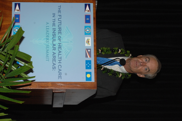 """[Assignment: 48-DPA-09-29-08_SOI_K_Isl_Conf_AM] Insular Areas Health Summit [(""""The Future of Health Care in the Insular Areas: A Leaders Summit"""") at the Marriott Hotel in] Honolulu, Hawaii, where Interior Secretary Dirk Kempthorne [joined senior federal health officials and leaders of the U.S. territories and freely associated states to discuss strategies and initiatives for advancing health care in those communinties [48-DPA-09-29-08_SOI_K_Isl_Conf_AM_IOD_4727.JPG]"""