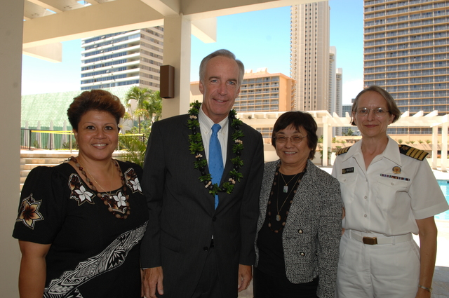 """[Assignment: 48-DPA-09-29-08_SOI_K_Isl_Conf_Group] Group photos: participants in the Insular Areas Health Summit [(""""The Future of Health Care in the Insular Areas: A Leaders Summit"""") at the Marriott Hotel in] Honolulu, Hawaii, where Interior Secretary Dirk Kempthorne [joined senior federal health officials and leaders of the U.S. territories and freely associated states to discuss strategies and initiatives for advancing health care in those communinties [48-DPA-09-29-08_SOI_K_Isl_Conf_Group_DOI_0646.JPG]"""