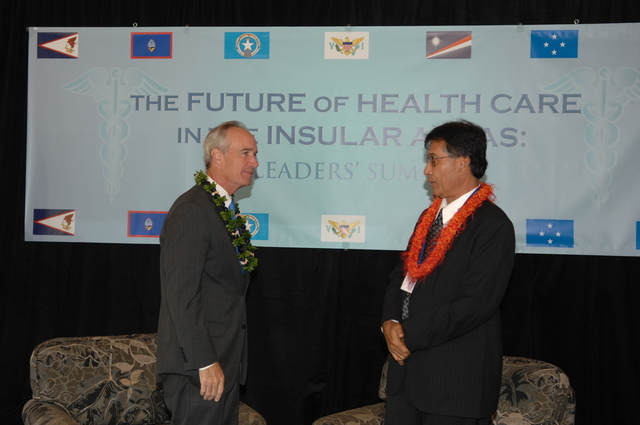 """[Assignment: 48-DPA-09-29-08_SOI_K_Isl_Conf_Lead] Participants in the Insular Areas Health Summit [(""""The Future of Health Care in the Insular Areas: A Leaders Summit"""") at the Marriott Hotel in] Honolulu, Hawaii, where Interior Secretary Dirk Kempthorne [joined senior federal health officials and leaders of the U.S. territories and freely associated states to discuss strategies and initiatives for advancing health care in those communinties [48-DPA-09-29-08_SOI_K_Isl_Conf_Lead_DOI_0651.JPG]"""