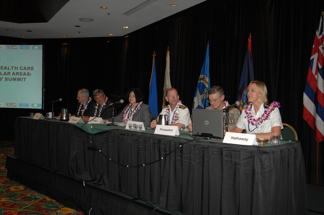 """[Assignment: 48-DPA-09-29-08_SOI_K_Isl_Conf_PM] Insular Areas Health Summit [(""""The Future of Health Care in the Insular Areas: A Leaders Summit"""") at the Marriott Hotel in] Honolulu, Hawaii, where Interior Secretary Dirk Kempthorne [joined senior federal health officials and leaders of the U.S. territories and freely associated states to discuss strategies and initiatives for advancing health care in those communities.] [48-DPA-09-29-08_SOI_K_Isl_Conf_PM_DOI_0745.JPG]"""