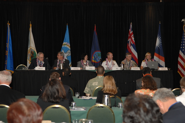 """[Assignment: 48-DPA-09-29-08_SOI_K_Isl_Conf_PM] Insular Areas Health Summit [(""""The Future of Health Care in the Insular Areas: A Leaders Summit"""") at the Marriott Hotel in] Honolulu, Hawaii, where Interior Secretary Dirk Kempthorne [joined senior federal health officials and leaders of the U.S. territories and freely associated states to discuss strategies and initiatives for advancing health care in those communities.] [48-DPA-09-29-08_SOI_K_Isl_Conf_PM_DOI_0751.JPG]"""