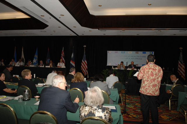 """[Assignment: 48-DPA-09-29-08_SOI_K_Isl_Conf_PM] Insular Areas Health Summit [(""""The Future of Health Care in the Insular Areas: A Leaders Summit"""") at the Marriott Hotel in] Honolulu, Hawaii, where Interior Secretary Dirk Kempthorne [joined senior federal health officials and leaders of the U.S. territories and freely associated states to discuss strategies and initiatives for advancing health care in those communities.] [48-DPA-09-29-08_SOI_K_Isl_Conf_PM_DOI_0689.JPG]"""