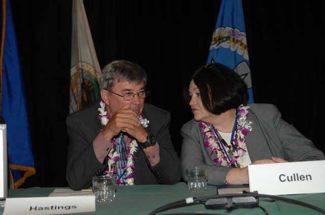 """[Assignment: 48-DPA-09-29-08_SOI_K_Isl_Conf_PM] Insular Areas Health Summit [(""""The Future of Health Care in the Insular Areas: A Leaders Summit"""") at the Marriott Hotel in] Honolulu, Hawaii, where Interior Secretary Dirk Kempthorne [joined senior federal health officials and leaders of the U.S. territories and freely associated states to discuss strategies and initiatives for advancing health care in those communities.] [48-DPA-09-29-08_SOI_K_Isl_Conf_PM_DOI_0755.JPG]"""