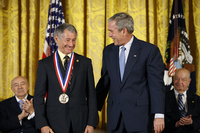 President George W. Bush and  National Medal of Science Recipient Dr. Leonard Kleinrock