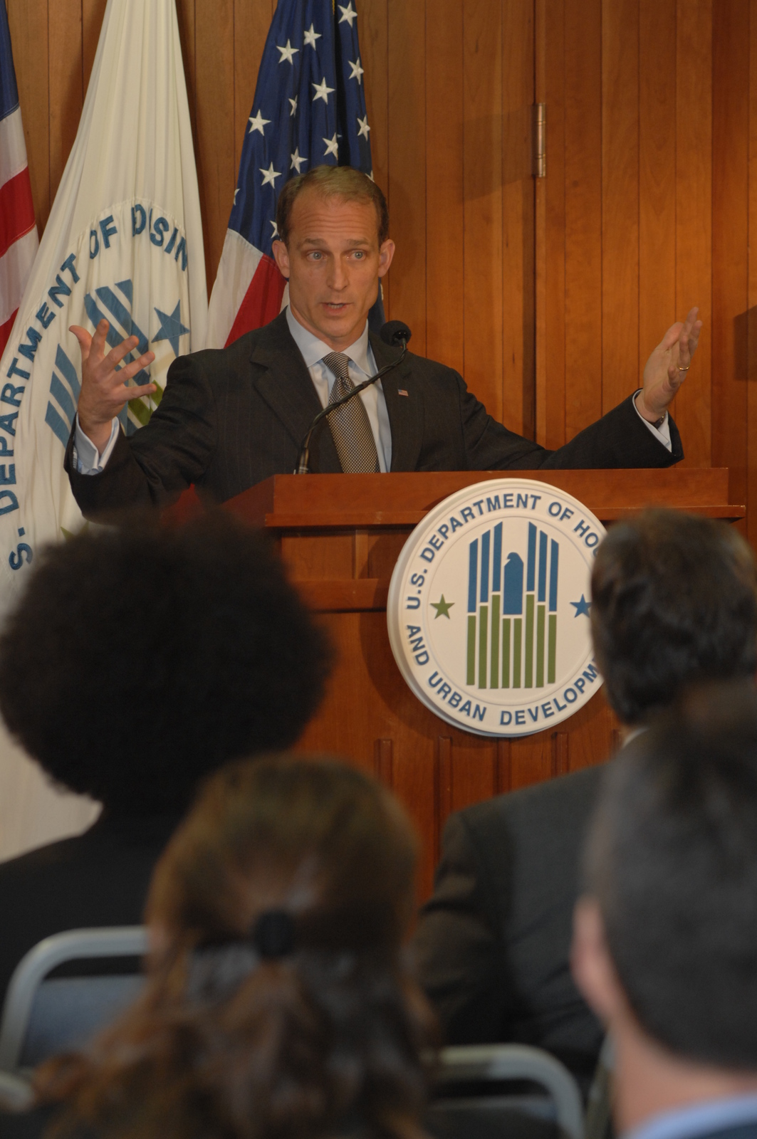 "Secretary Steve Preston Press Conference - Secretary Steve Preston conducting press conference, on ""Hope for Homeowners,"" at HUD Headquarters"