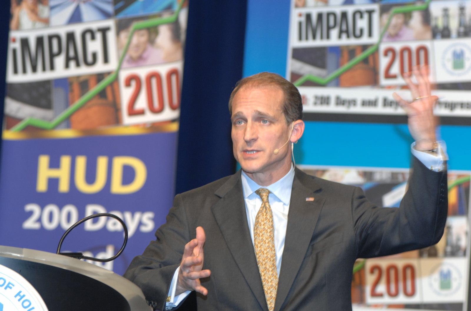 """Town Hall Meeting on """"Impact 200"""" - Town hall meeting, [with Secretary Steve Preston and other officials], concerning """"Impact 200: HUD--200 Days and Beyond of Progress,"""" at HUD Headquarters"""