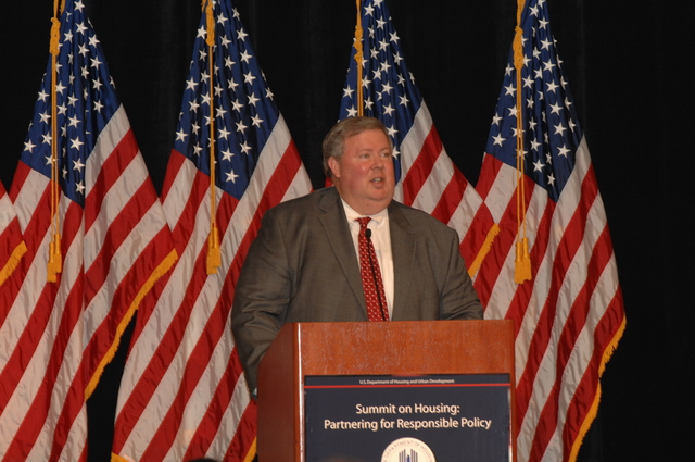 "Housing Summit - HUD-sponsored Summit on Housing, ""Partnering for Responsible Policy,"" [with Assistant Secretary for Housing-Federal Housing Commissioner Brian Montgomery among the speakers], at Mandarin Hotel, Washington, D.C."